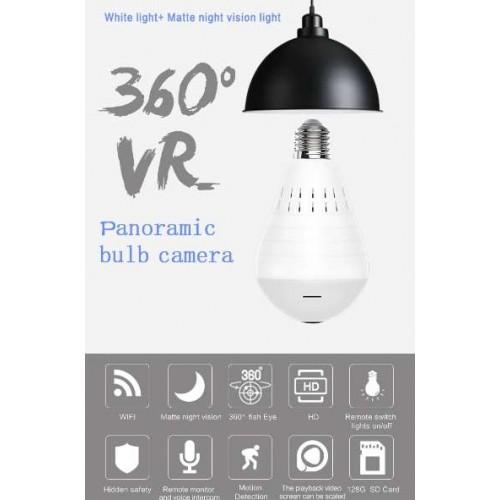 Wifi Panoramic 360 degree Camera Wireless IP LED Light Bulb Mini Camera 1.3MP 3D VR 960P Bulb WIFI Camera CCTV