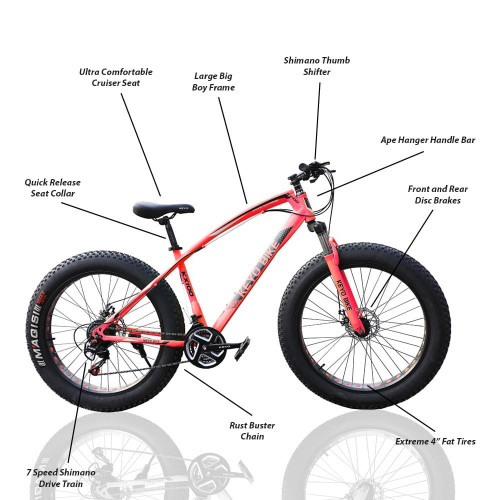 New Big Tyre Mountain Cycle 21 Speed Gears Jaguar Bicycle For Adults