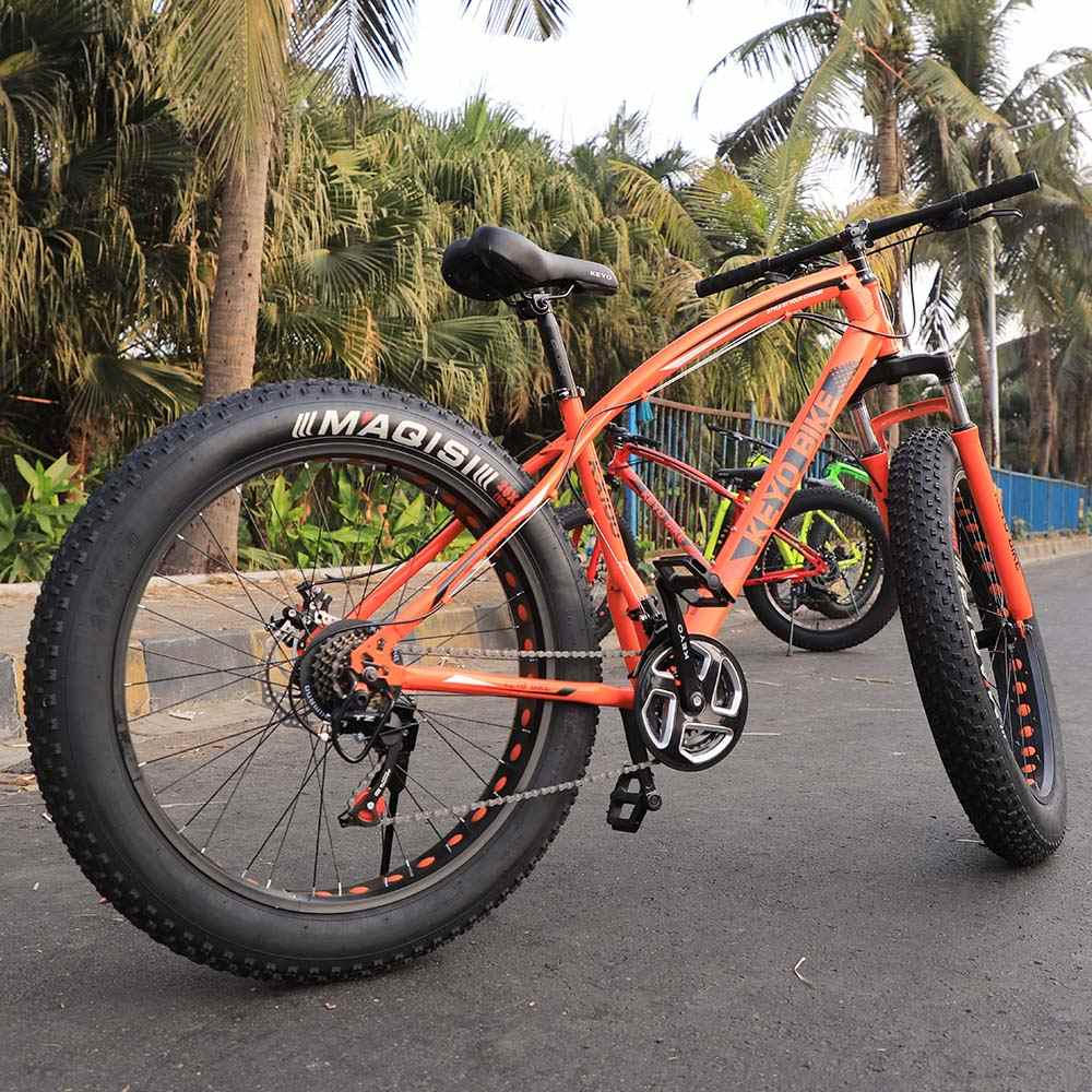 New Fat Tyre Mountain Cycle 21 Speed Gears Shimano For Adults Steel Body