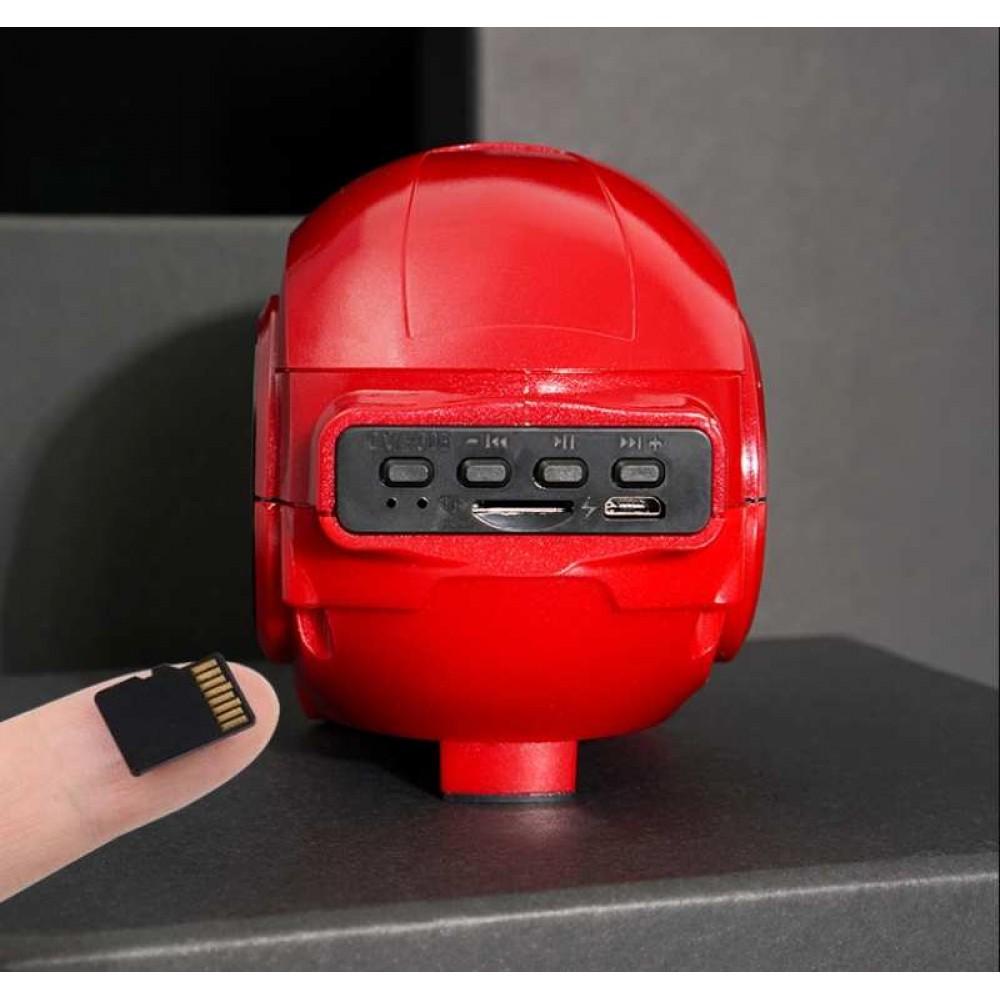 Bluetooth Speakers Mini Wireless Iron Man Waterproof With Bt Music Fm