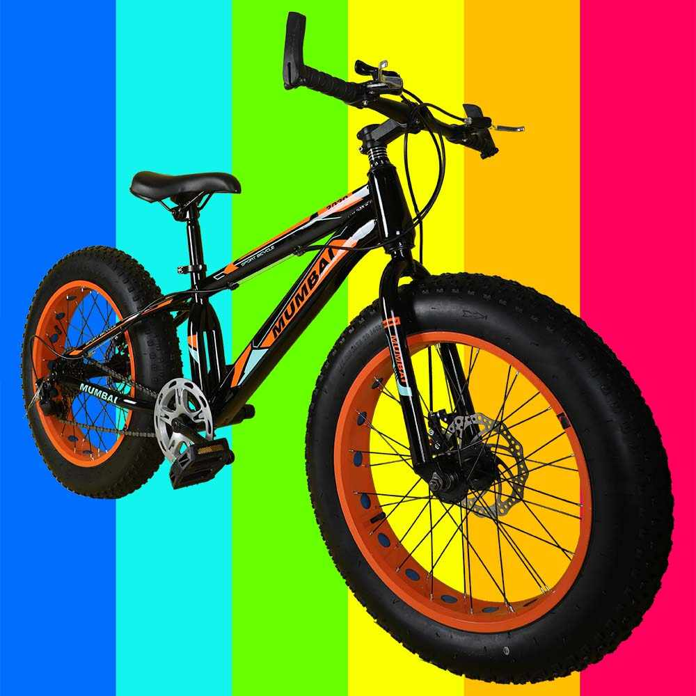 MXB010 20 Inch Fat Tyre Mountain Cycle 21 Speed Gears Shimano For Kids Steel Body (Black And Orange )