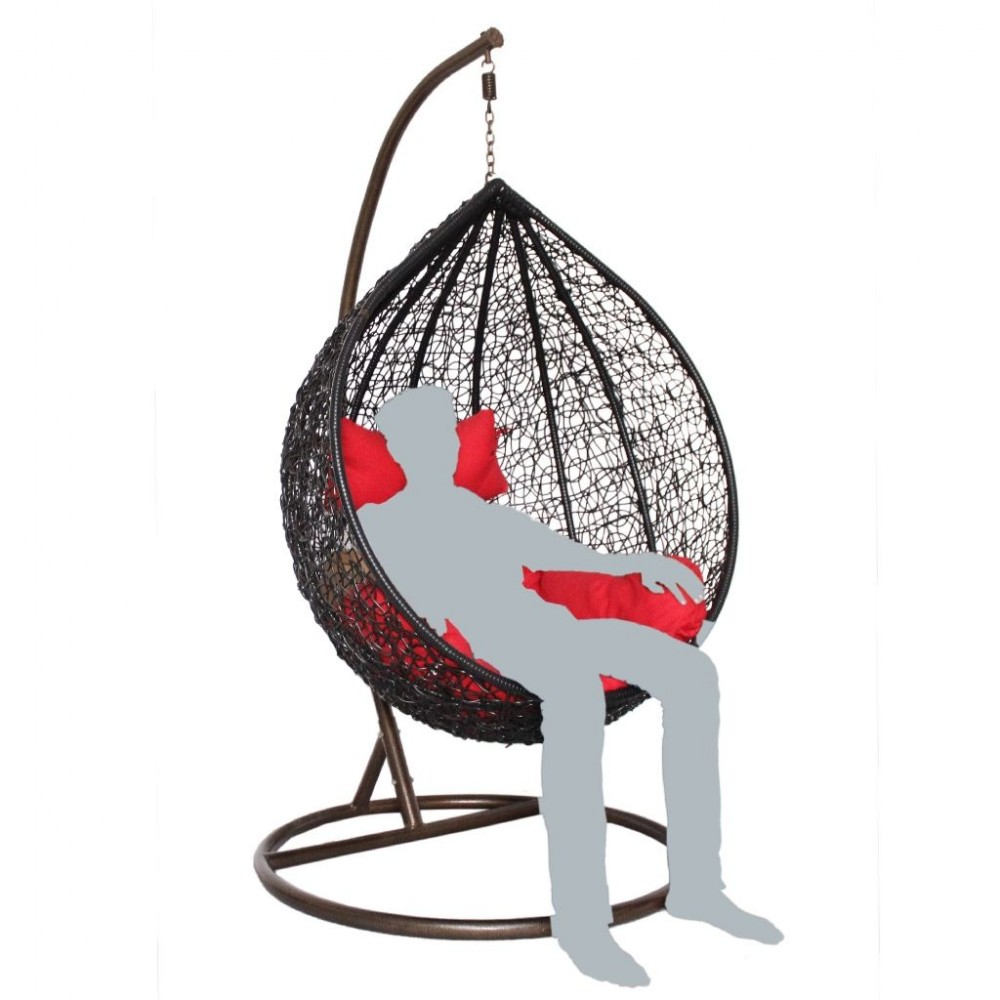 Modak Basket Swing Chair Jhula 1 Seater For Indoor Outdoor Use Egg Style