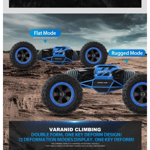 2.4GHz 4WD Ontek Q70 RC Car Radio Control Car Twist- Desert Cars Off Road Buggy Toy High Speed Climbing RC Car Kids Children Toys