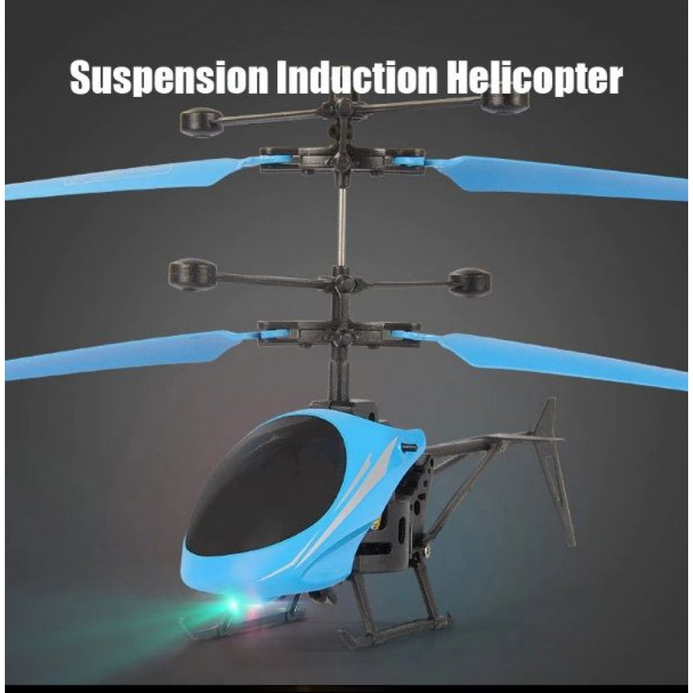 Kids Helicopter Flying Toys With Infrared Sensor Hand Control Mini Aircraft