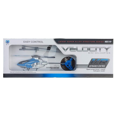 Velocity Radio Control Rc Helicopter Aircraft 4 Channel Huge for 5 to 10 Years Kids