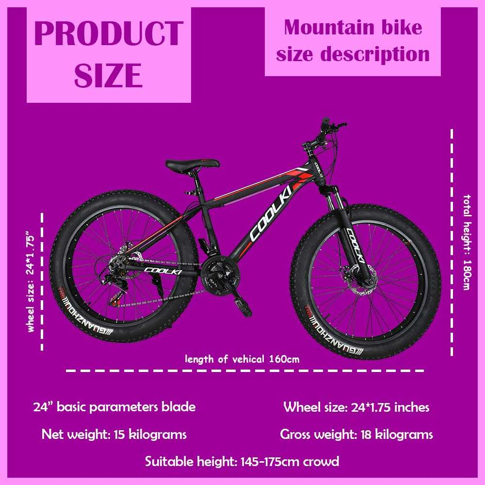 SS026 Fat Tyre Mountain Cycle 21 Speed Gears Shimano For Adults Steel Body (Black Red)